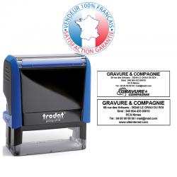 TRODAT METAL LINE 5200 | Empreinte 4 ou 5 lignes 41 x 24 mm offerte