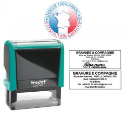 TRODAT METAL LINE 5205 | Empreinte 6 lignes 70 x 25 mm offerte