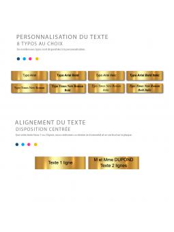 Plaque Interphone Ou Sonnette Adhésive PVC – Plaque Gravée À Personnaliser 6 x 1,5 cm (Gris alu brillant)