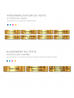 Plaque Boite Aux Lettres Adhésive PVC – Plaque Gravée À Personnaliser 10 x 2,5 cm (Noir)