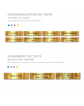 Plaque Boite Aux Lettres Adhésive PVC – Plaque Gravée À Personnaliser 10 x 2,5 cm (Gris Alu Brillant)