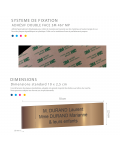 Plaque Boite Aux Lettres Adhésive PVC – Plaque Gravée À Personnaliser 10 x 2,5 cm (Blanc écriture bleue)