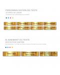 Plaque Boite Aux Lettres Adhésive PVC – Plaque Gravée À Personnaliser 10 x 2,5 cm (Marron)