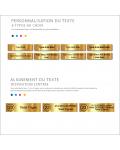 Plaque Boite Aux Lettres Avec Numéro Adhésive PVC – Plaque Gravée À Personnaliser 10 x 2,5 cm (Noir)