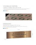 Plaque Boite Aux Lettres Avec Numéro Adhésive PVC – Plaque Gravée À Personnaliser 10 x 2,5 cm (Or Brillant)