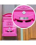 Plaque Boite Aux Lettres Avec Numéro Adhésive PVC – Plaque Gravée À Personnaliser 10 x 2,5 cm (Beige)