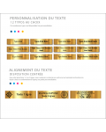 Plaque Boite Aux Lettres Avec Dessin Adhésive PVC – Plaque Gravée À Personnaliser 10 x 2,5 cm ()