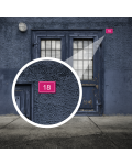 Plaque De Numéro De Rue - Numéro De Maison PVC Fixation Au Choix – Plaque Gravée À Personnaliser 15 x 10 cm (Gris alu brillant)