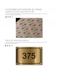 Plaque De Numéro De Rue PVC Fixation Au Choix – Plaque Gravée À Personnaliser 15 x 10 cm ()