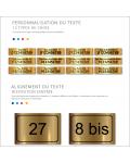 Plaque De Numéro De Rue - Numéro De Maison PVC Fixation Au Choix – Plaque Gravée À Personnaliser 15 x 10 cm (Or Mat)