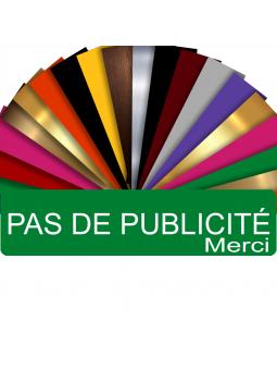 """Plaque """"Pas de Publicité"""" Rouge pour boite aux lettres"""