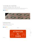 Plaque Attention Au Chien Autocollante – Plaque De Maison PVC Adhésive 10 x 5 cm (Blanc écrit Bleu)