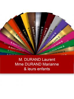 Plaque Boite Aux Lettres Adhésive PVC – Plaque Gravée À Personnaliser 10 x 2,5 cm (Rouge)
