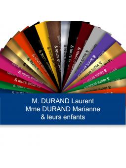 Plaque Boite Aux Lettres Adhésive PVC – Plaque Gravée À Personnaliser 10 x 2,5 cm (Bleu)