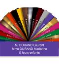 Plaque Boite Aux Lettres Adhésive PVC – Plaque Gravée À Personnaliser 10 x 2,5 cm (Violet)