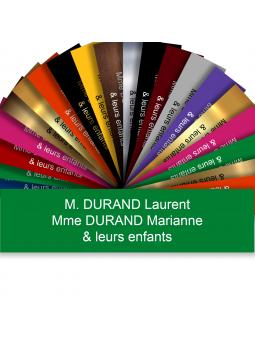 Plaque Boite Aux Lettres Adhésive PVC – Plaque Gravée À Personnaliser 10 x 2,5 cm (Vert)