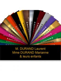 Plaque Boite Aux Lettres Adhésive PVC – Plaque Gravée À Personnaliser 10 x 2,5 cm (Noir écriture Or)