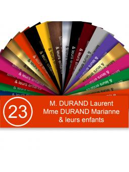Plaque Boite Aux Lettres Avec Numéro Adhésive PVC – Plaque Gravée À Personnaliser 10 x 2,5 cm (Orange)
