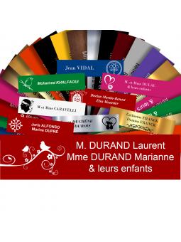 Plaque Boite Aux Lettres Avec DESSIN Adhésive PVC – Plaque Gravée À Personnaliser 10 x 2,5 cm (Rouge)