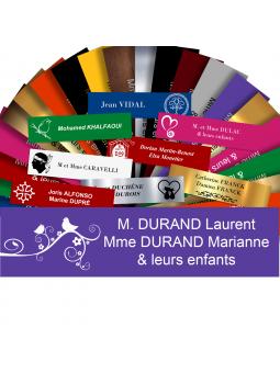 Plaque Boite Aux Lettres Avec DESSIN Adhésive PVC – Plaque Gravée À Personnaliser 10 x 2,5 cm (Violet)