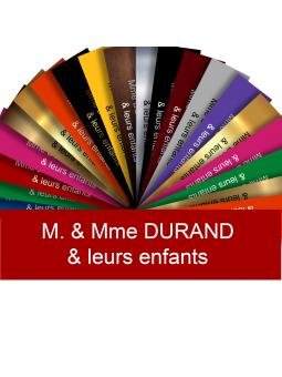 Plaque Interphone Ou Sonnette Adhésive PVC – Plaque Gravée À Personnaliser 6 x 1,5 cm (Rouge)