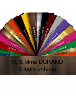 Plaque Interphone Ou Sonnette Adhésive PVC – Plaque Gravée À Personnaliser 6 x 1,5 cm (Bronze écriture noire)