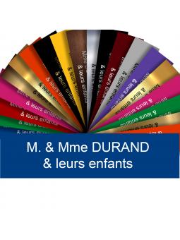 Plaque Interphone Ou Sonnette Adhésive PVC – Plaque Gravée À Personnaliser 6 x 1,5 cm (Bleu)