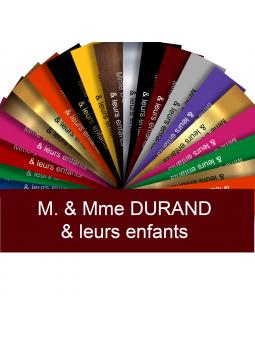 Plaque Interphone Ou Sonnette Adhésive PVC – Plaque Gravée À Personnaliser 6 x 1,5 cm (Bordeaux)
