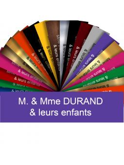 Plaque Interphone Ou Sonnette Adhésive PVC – Plaque Gravée À Personnaliser 6 x 1,5 cm (Violet)