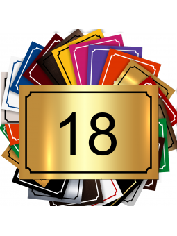 Plaque De Numéro De Rue - Numéro De Maison PVC Fixation Au Choix – Plaque Gravée À Personnaliser 15 x 10 cm (Or Brillant)