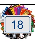 Plaque De Numéro De Rue - Numéro De Maison PVC Fixation Au Choix – Plaque 15 x 10 cm (Blanc écriture bleue)