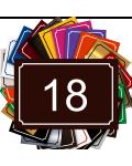 Plaque De Numéro De Rue - Numéro De Maison PVC Fixation Au Choix – Plaque Gravée À Personnaliser 15 x 10 cm (Marron)