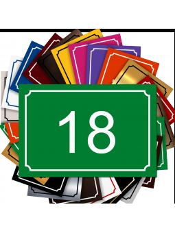 Plaque De Numéro De Rue - Numéro De Maison PVC Fixation Au Choix – Plaque Gravée À Personnaliser 15 x 10 cm (Vert)