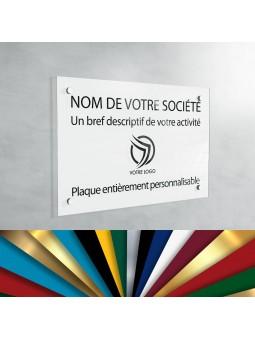Plaque Professionnelle Plexiglas - Plaque Gravée À Personnaliser 30 x 20 cm (fond Blanc)