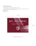 Plaque professionnelle en plexiglas fond Blanc à personnaliser | 30 x 20 cm