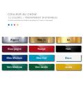 Plaque professionnelle en plexiglas fond Argent à personnaliser | 30 x 20 cm