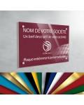 Plaque professionnelle en plexiglas fond Bourgogne à personnaliser | 30 x 20 cm