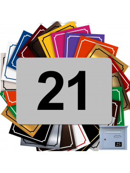 Numéro De Rue Pour Boîte Aux Lettres Adhésif - Numéro De Maison PVC ()