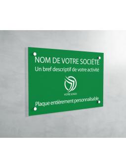Plaque Professionnelle PVC - Plaque Gravée À Personnaliser 20 x 15 cm (Vert)