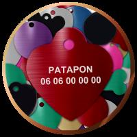 Médailles gravées animaux coeur | 4,90€| Livraison gratuite