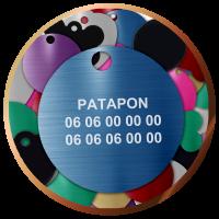 Médailles rondes gravées pour animaux | 4,90€| Livraison gratuite