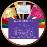 Plaques de boîtes aux lettres avec dessin Family | Gravure & Compagnie