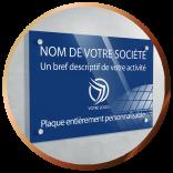 Plaque professionnelle plexiglas personnalisable | Gravure & Compagnie