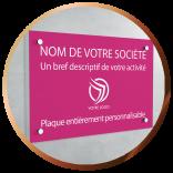 Plaque professionnelle PVC personnalisée | Gravure & Compagnie
