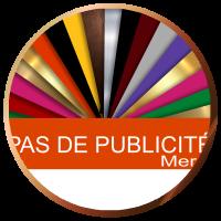 Plaque pas de publicité pour boite aux lettres | Gravure & Compagnie