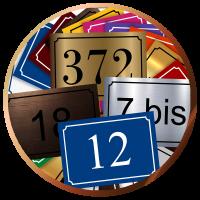 Numéros de rue (plaques)