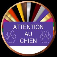 Plaques Attention au chien   Gravure & Compagnie