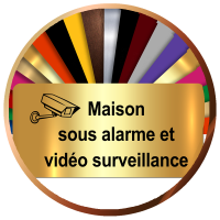 Plaques Maison sous Alarme et vidéosurveillance   Gravure & Compagnie